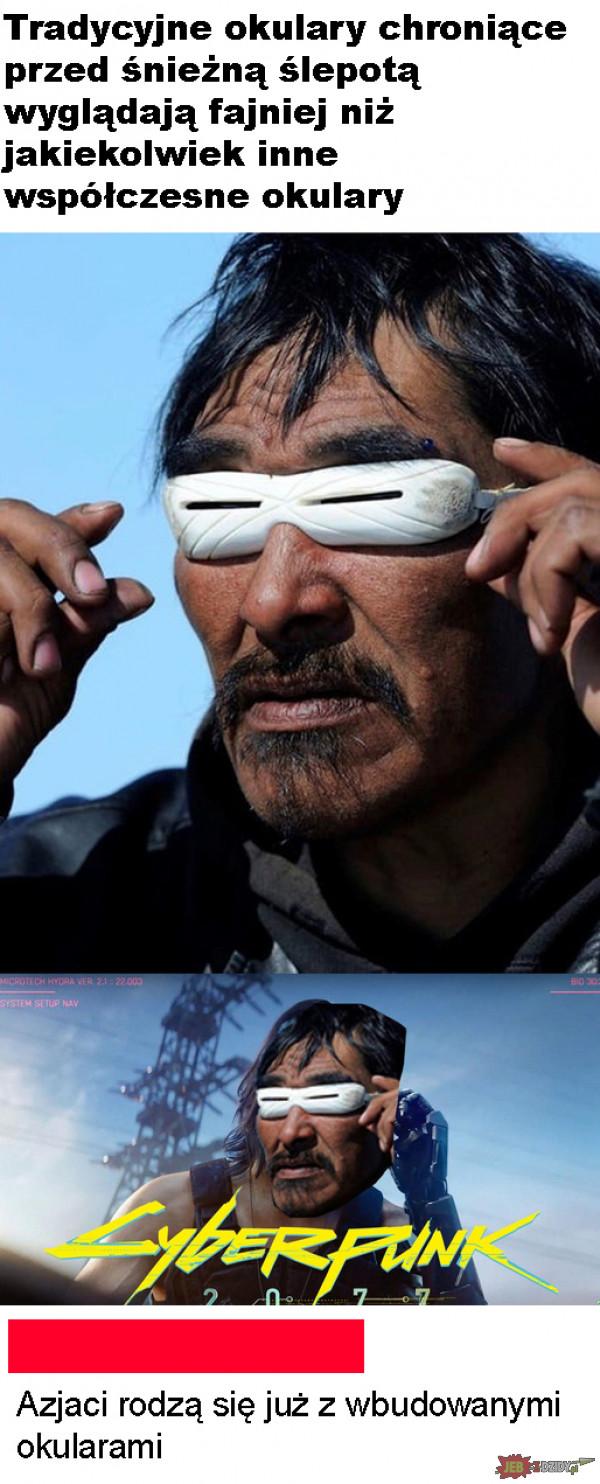 Wbudowane okulary