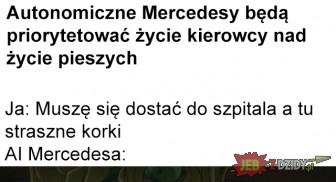 Autonomiczne Mercedesy