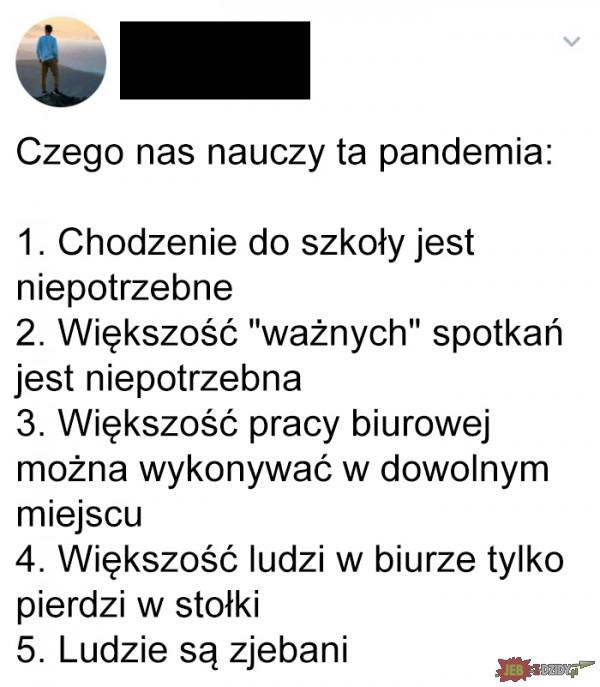 Lekcje z pandemii