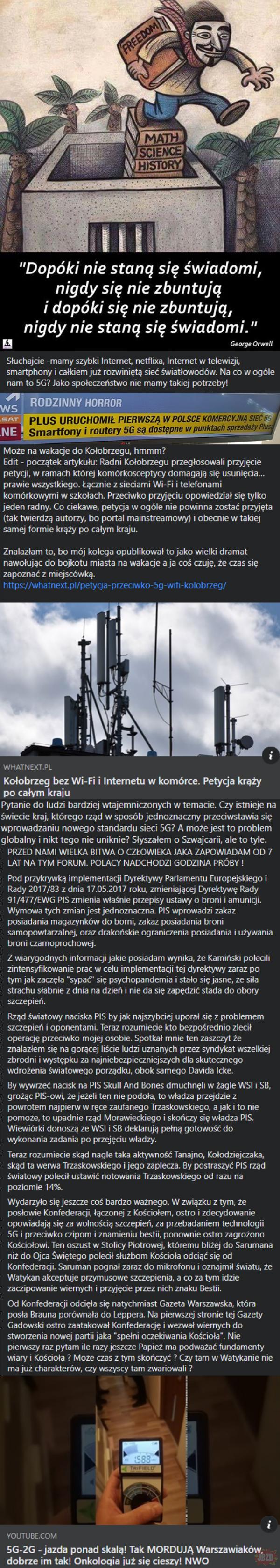 Ostatnimi czasy robię za rządowego szpiega na grupie polskie nie dla 5g i chciałem sięz wami podzielić zebranymi danymi. A to dopiero posty sprzed kilku dni XD