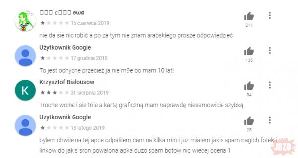 Opinie na Google Play takie pomocne