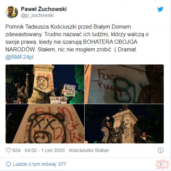 """""""Kościuszko w swoim testamencie przekazał część majątku na wykupienie czarnoskórych niewolników"""""""