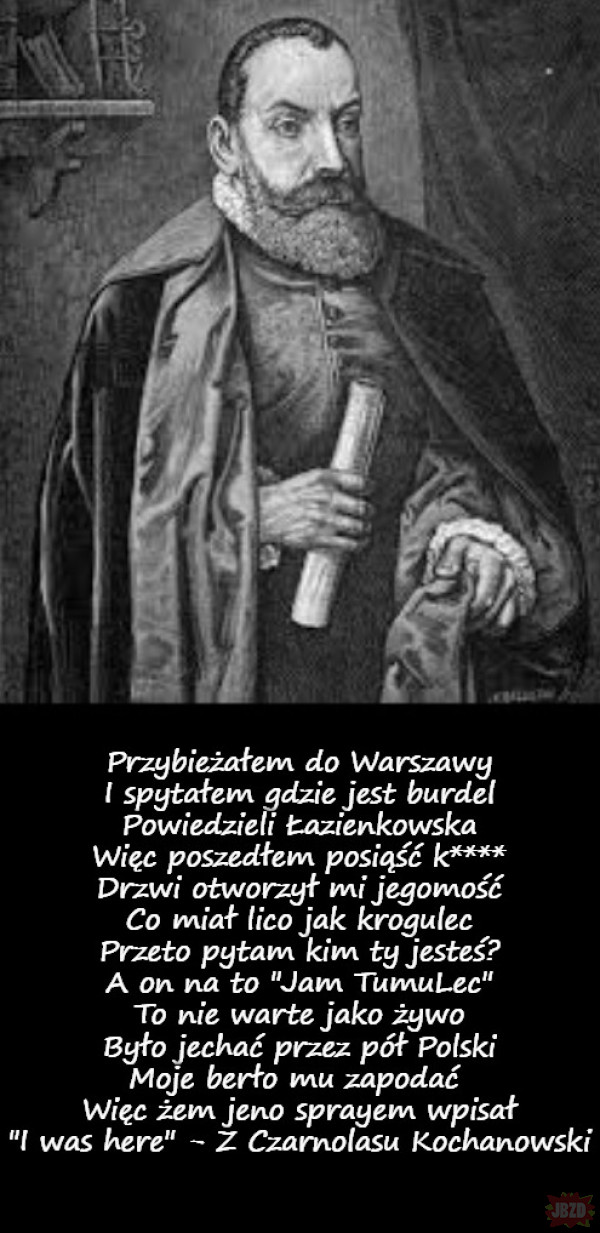 """Zapomniane dzieła Wielkich Polaków - Jan Kochanowski fraszka """"Na Legię"""""""