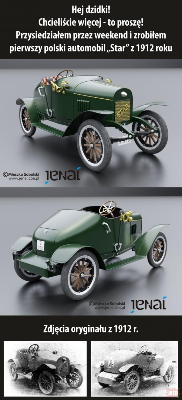 Pierwszy polski automobil z 1912 r.