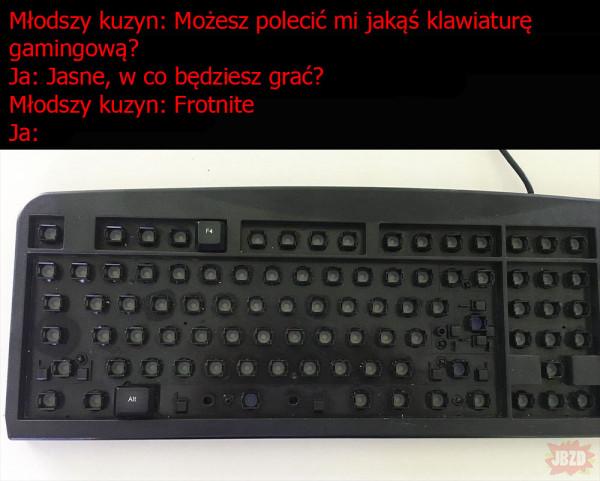 Najlepsza klawiatura do Fortnite
