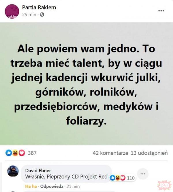 Trzeba mieć talent