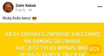 Zahir kebab jak zwykle z rigczem
