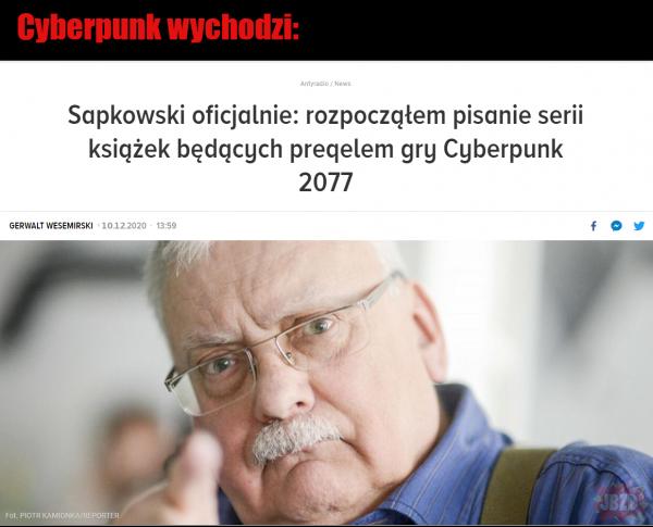 Sapkowski po premierze Cyberpunka