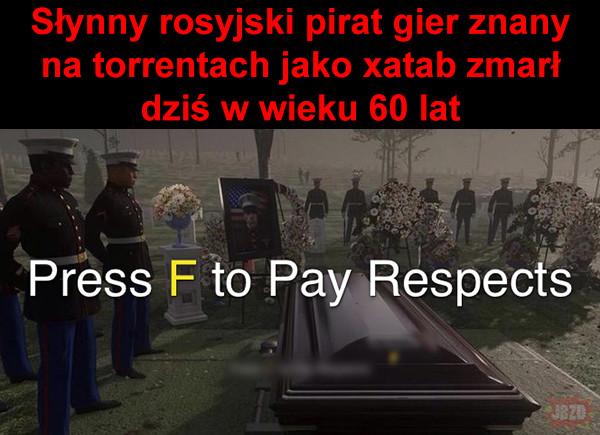 Press F