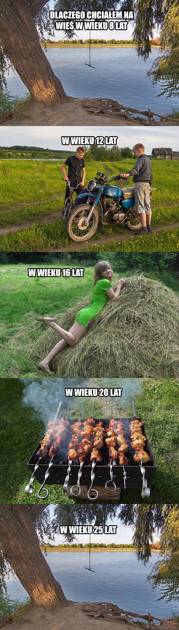 Powody jeżdżenia na wieś
