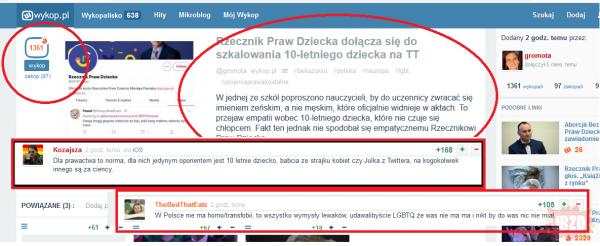 Wykop.pl już oficjalnie to portal prawico LGBTQUIOHNBJKSDF