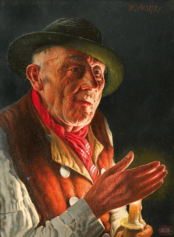 Franz Xavier Wolfle - Światło Świecy (olej)
