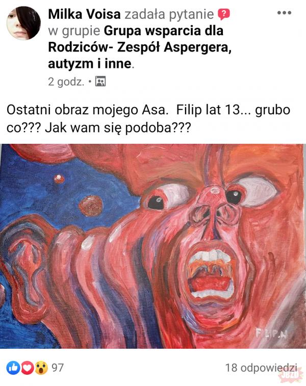 Obraz namalowany przez autystyczne dziecko