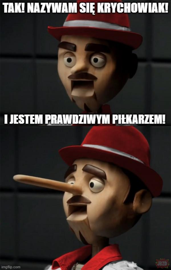 Drewniak kłamczuch