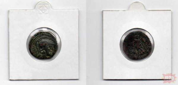 Pytanie do historycznych/numizmatycznych dzidek. Wie ktoś może co to jest za monetka i z jakich czasów? Z góry dziękuję!